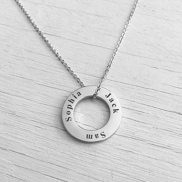 Washer Necklace Silver