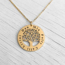 Family Tree Pendant Gold