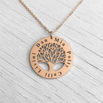 Family Tree Pendant Rose Gold