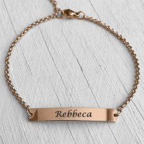 ID Name Bracelet Rose Gold