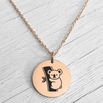 Koala Necklace Rose Gold