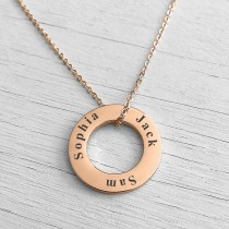 Washer Necklace Rose Gold