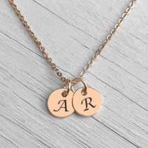 Initial Pendant Necklace Rose Gold