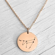 Zodiac Constellation Necklace Rose Gold