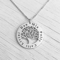 Family Tree Pendant Silver