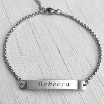 ID Name Bracelet Silver