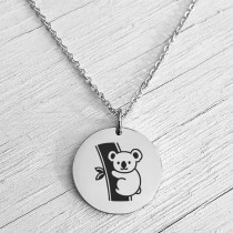 Koala Necklace Silver
