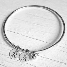 Sterling Silver Hook Close Bracelet