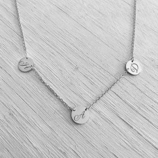 Twin Link Sterling Silver Pendant